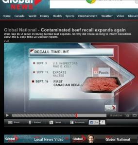 CFIA, contaminated meat, e-coli
