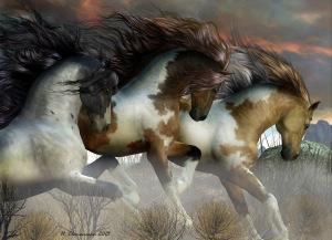 horse-trio right time