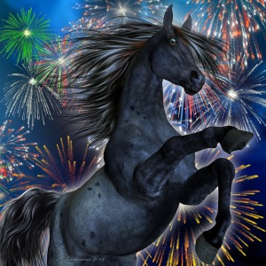 horse-and-fireworks