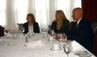 Sinikka Crosland, Victoria McCullough, and Senator Abruzzo