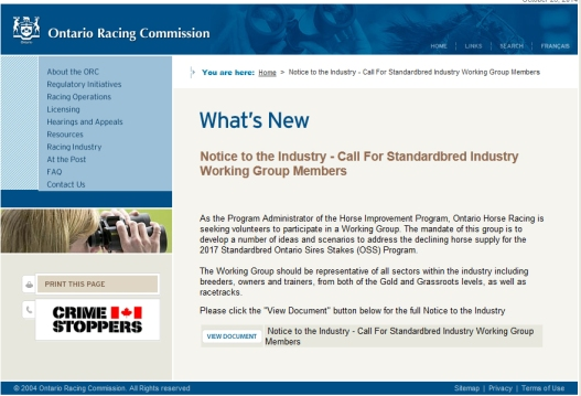 Ontario Racing Commission