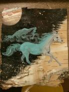Arabian horse Birch Bark Painting